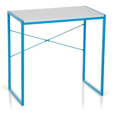pc tavolo tavolo per pc 78x46x76 cm in metallo e legno bianco