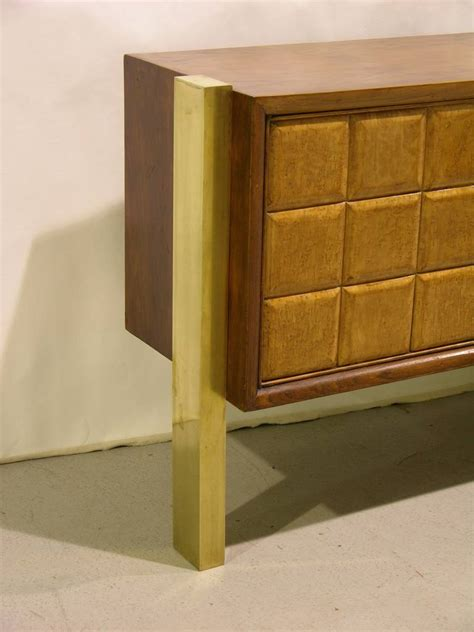 1940s minimalist and light wood cabinet sideboard