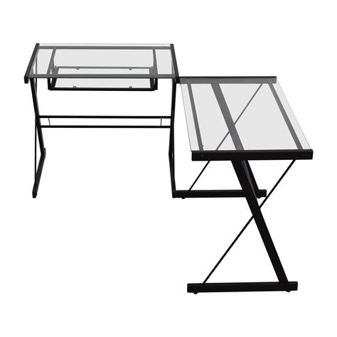 walker edison glass desk 57 off west elm west elm desk