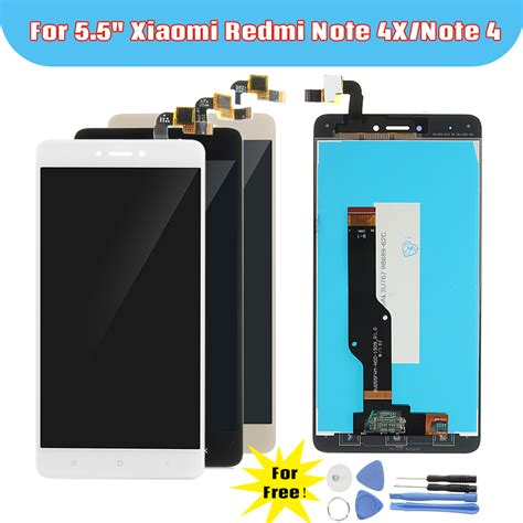 Lcd Touchscreen Xiaomi Redmi Note 4x 4 X Complete Original lcd display touch screen digitizer replacement with tools