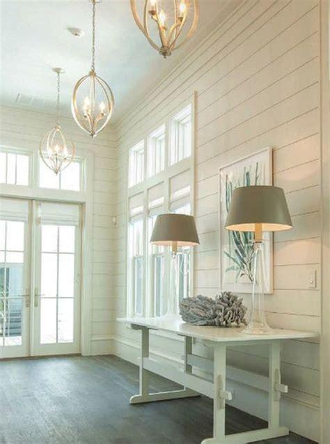 Shiplap White Wall 32 Interior Designs With Coastal Decor Messagenote