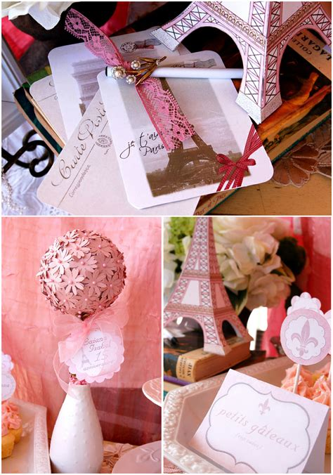 paris themed party entertainment ideas party blog by birdsparty printables parties diycrafts