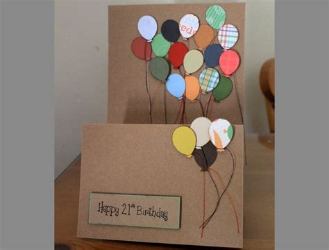 Handmade 21st Birthday Cards - handmade 21st birthday card