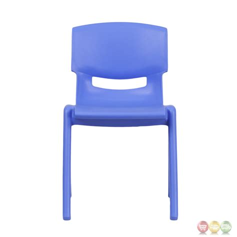 Plastic School Chairs by Blue Plastic Stackable School Chair With 13 25 Inch Seat