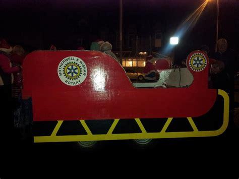 building santas sleigh rotary club  motherwell wishaw