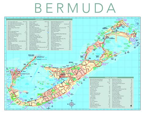 bermuda island map detailed tourist map of bermuda bermuda detailed tourist