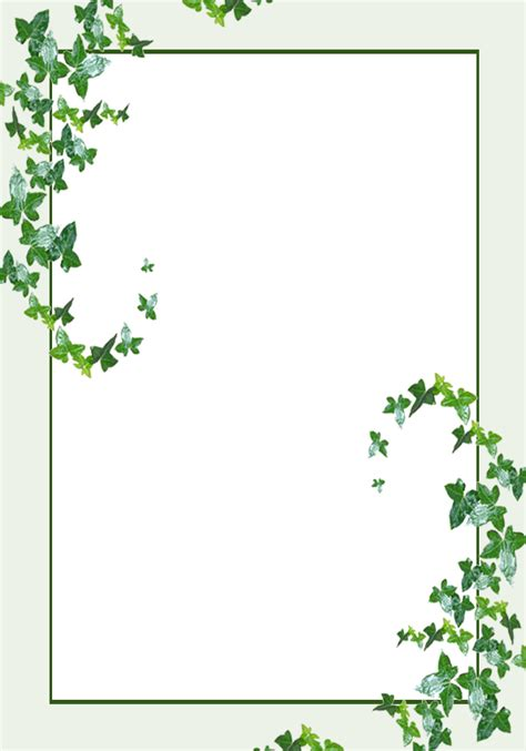 Leaf Border Template Lit Template Ivy Leaves By Rockgem On Deviantart