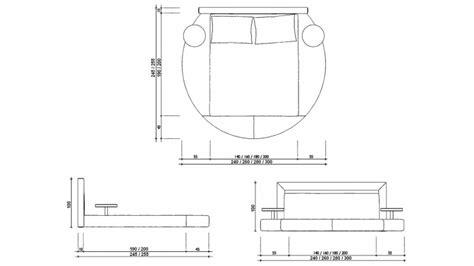 Etagere Uster by Lit Design Rond Noir En Simili 140x190 Cm Avec Lumi 232 Res