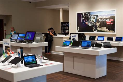 computer show room digital products computer shop counter interior design buy computer shop counter design