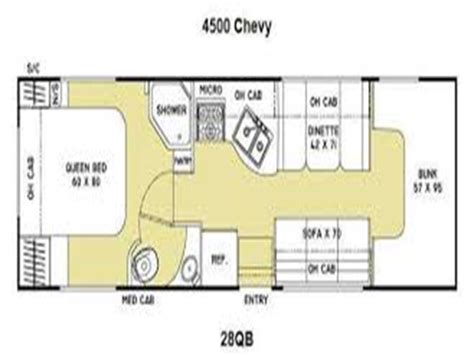 coachmen class c motorhome floor plans irentrv coachmen motorhome