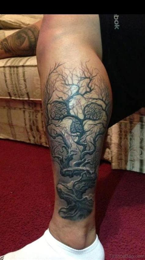 skull tree tattoo 67 stylish skull tattoos for leg