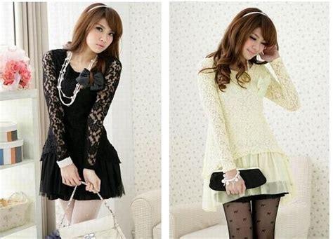 Dress Cewek Cs fashion remaja trend baju lace dress