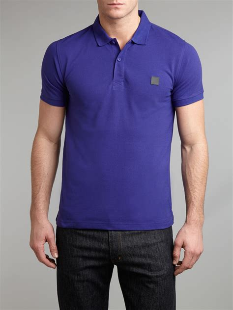 bench shirts for men lyst bench tipped polo shirt in blue for men