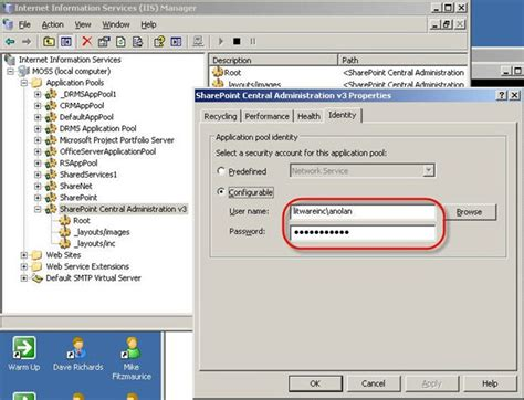 blogger usernames changing service account usernames and passwords in moss