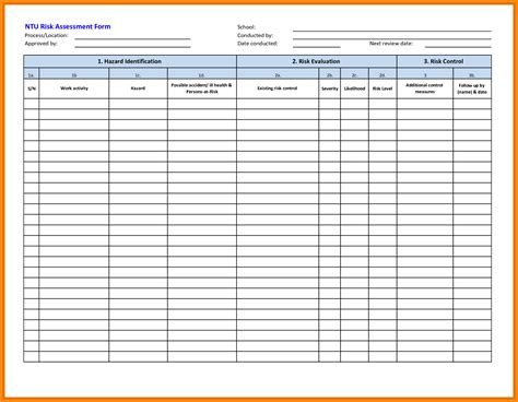 risk assessment templates free download resume format in