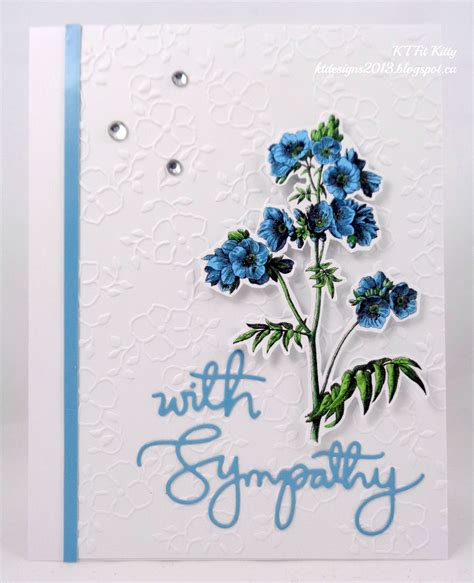 Handmade Graphics - handmade floral sympathy card reader feature the