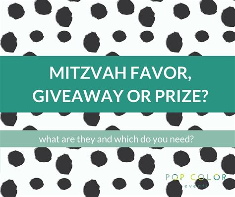 Prizes And Giveaways - mitzvah favors prizes or giveaways pop color events