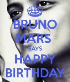 bruno mars says happy birthday poster lu keep calm o matic