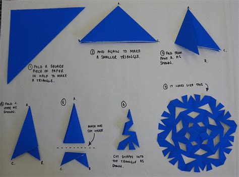 How To Make A Snowflake With Construction Paper - how to make a paper snowflake flickr photo