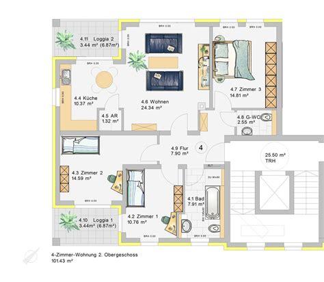 4 Raum Wohnung by 4 Zimmer Wohnung Im 2 Obergeschoss W4 Klia Wohnpark