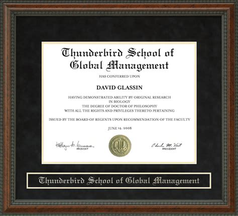 Thunderbird School Of Management Mba by Thunderbird School Of Global Management Diploma Frame