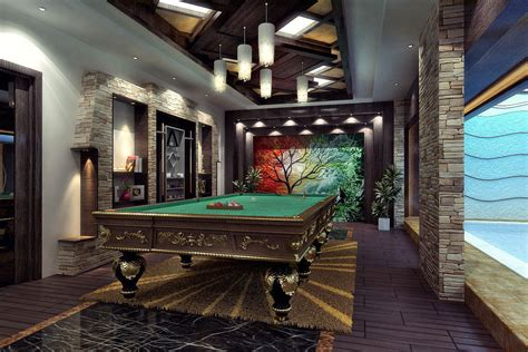 Bar Billiard Room by Open Space Living Room Billiard Room Bar S Free 3d