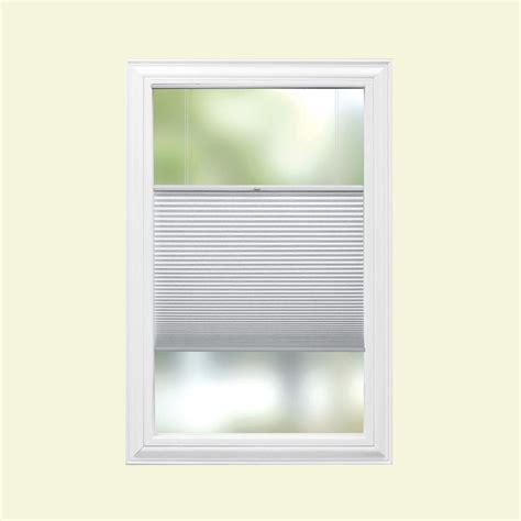 jcpenney home cut to width light filtering cordless cellular shade home decorators collection cut to width snow drift 9 16 in