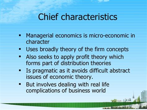 What Is Mba In Economics by Managerial Economics Scope Ppt Mba 2009