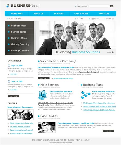 website templates for small business business website template
