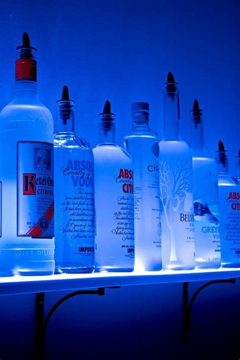 diy lighted bar shelves 17 best images about barware on wine bottle