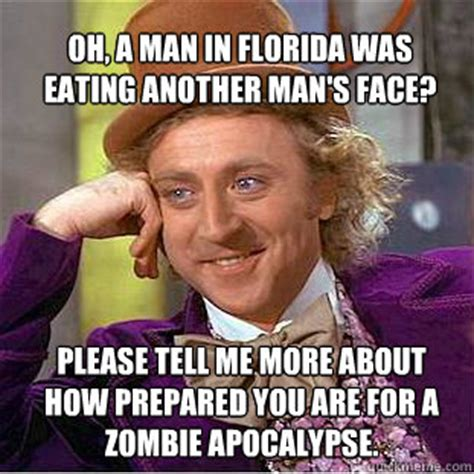 Florida Man Meme - oh a man in florida was eating another man s face please