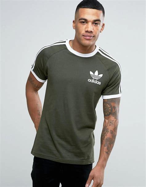 adidas originals california t shirt in green bq5369 in