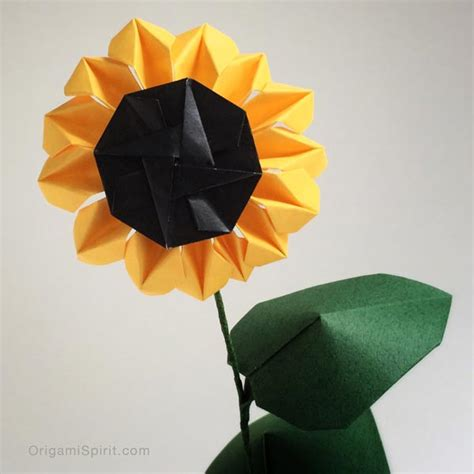 Sunflower Origami - origami sunflower bring and happiness to your