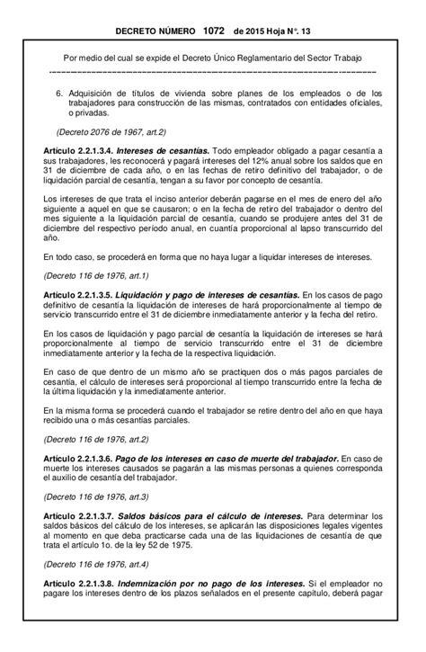 decreto 1072 de 2015 en pdf decreto 1066 de 2015 autos post