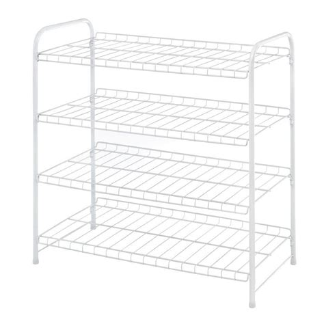Whitmor Closet Shelves by Whitmor 4 Tier Closet Shelf 6023 4139 Cb The Home Depot
