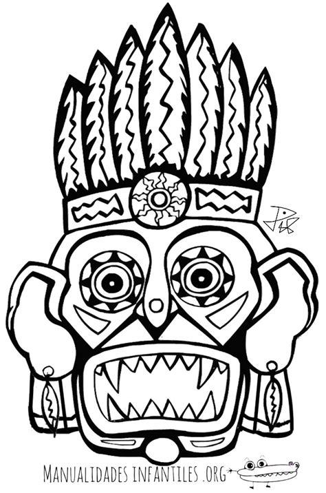 imagenes mayas para imprimir mascaras mayas para colorear images