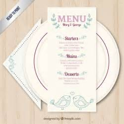 Wedding Menu Sles Templates by De Mariage Mignons Mod 232 Le De Menu T 233 L 233 Charger Des