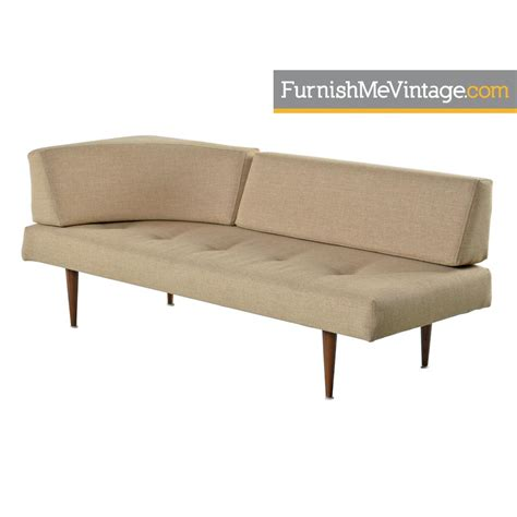 mid century modern daybed sofa restored mid century modern corner daybed sofa