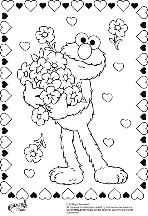 elmo valentine coloring page elmo valentine coloring pages team colors