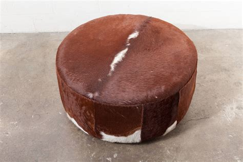 Faux Cowhide Ottoman Three Foot Wide Vintage Inspired Cowhide Ottoman Or Coffee