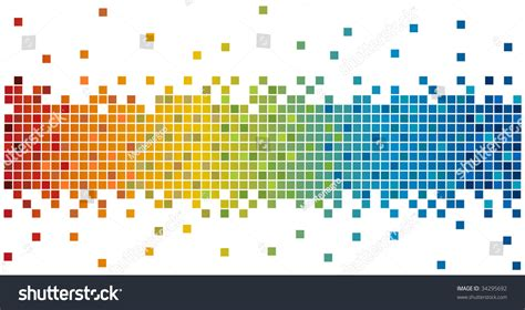 html layout pixels rainbow colors pixels stock photo 34295692 shutterstock