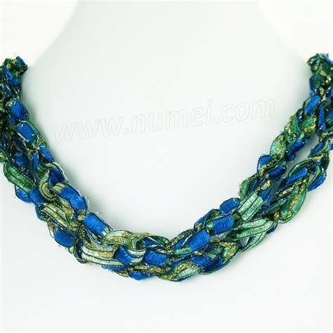 Handmade Ribbon - handmade ribbon necklace qm68120