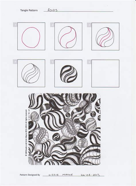 zentangle pattern steps zentangle patterns step by step roids tangles