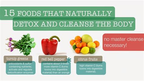 9 Foods That Will Naturally Detox You by Naturally Detoxifying And Cleansing Foods Infographic