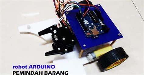membuat robot otomatis membuat robot pemindah barang otomatis menggunakan arduino