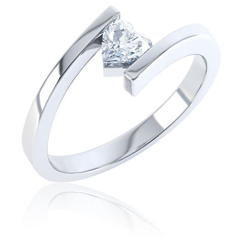 combinations white topaz stacking silver ring jian