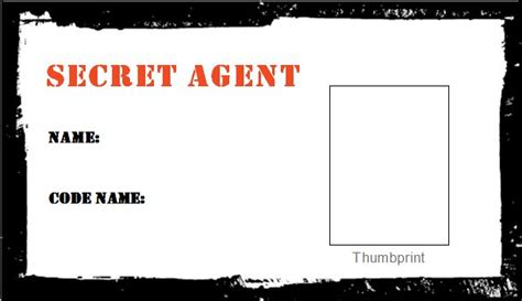 secret id card template secret id cards