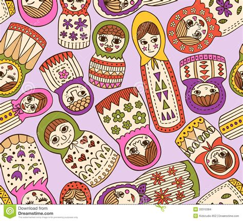 russian pattern vector russian doll seamless pattern stock vector image 33310384