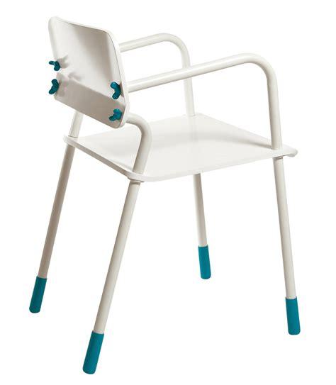 fauteuil scholl fauteuil school joke assise bois blanc bleu seletti