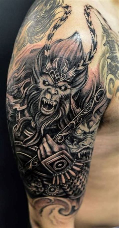 chinese monkey tattoo designs 10 monkey king king tattoos
